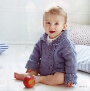 вязаная кофта для малыша