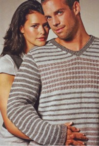 вязаный свитер для мужчины