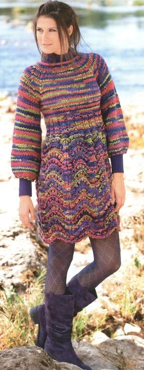 Комментарий: Вязаное платье и болеро Вязание