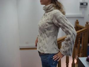 фактурный пуловер