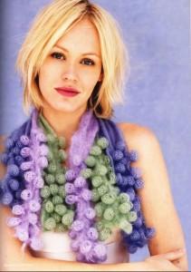 вязаный валяный шарф