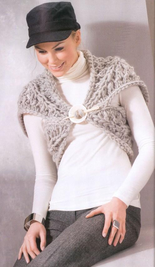 Болеро Высокий стиль, вязание