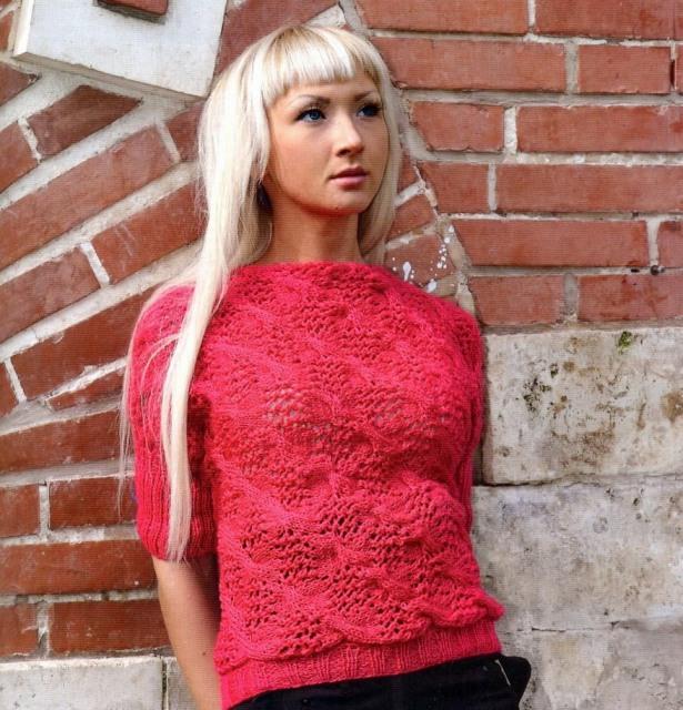 Вязание спицами модные кофточки