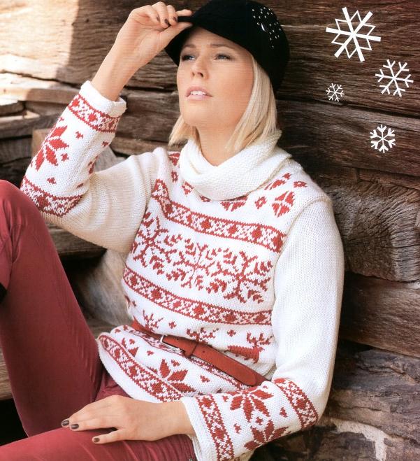 свитер с норвежским узором спицами фото.