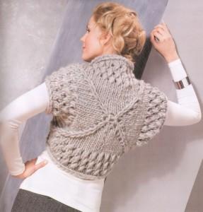 вязаное болеро спицами