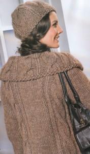 пальто и шапочка спицами