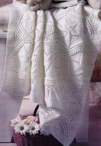 вязаное покрывало для малыша