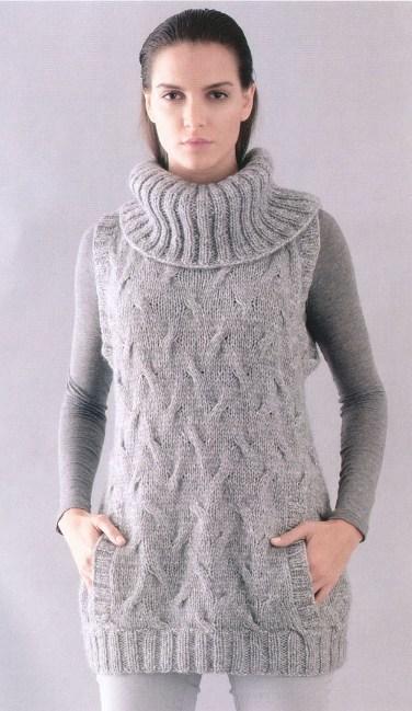 Одеваемся со вкусом.  Вязаный жилет спицами .  Кройка, шитье, вязание - способы и приемы.