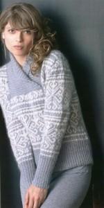 свитер с норвежскими мотивами