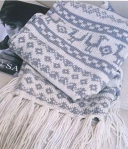 шарф  норвежскими узорами