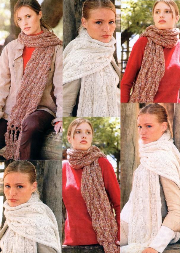 Вязаные шарфики крючком схемы: шарф с бахромой.