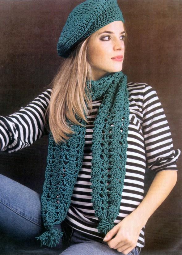 Схема вязания шапки берета