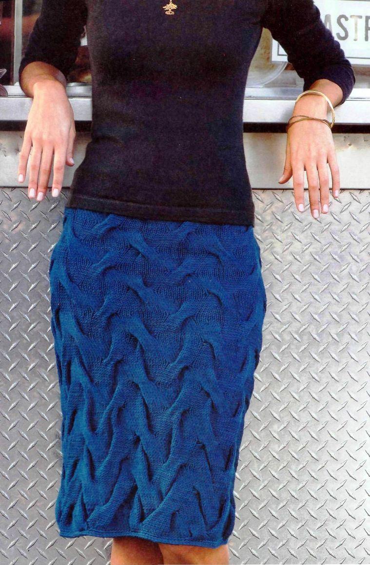 Вязание круговыми спицами юбку видео