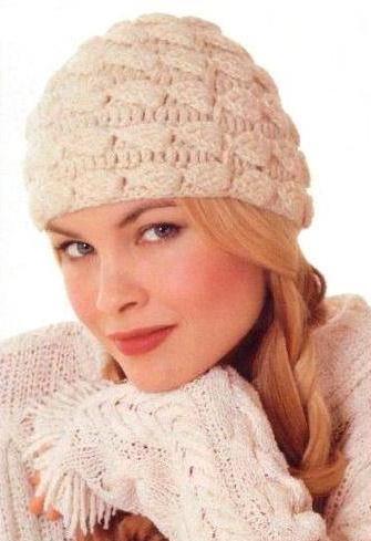Вязание шапок зима осень 33