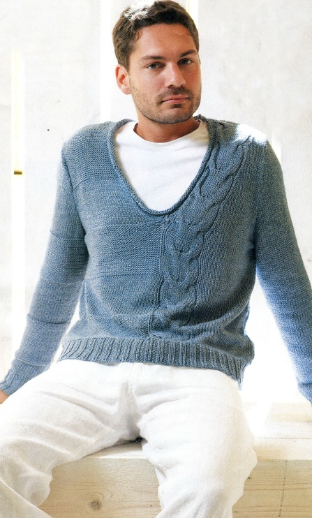 также мужские мужские свитера спицами