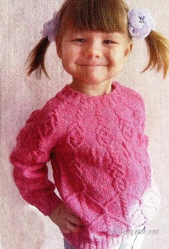 Вязание свитера спицами для детей.