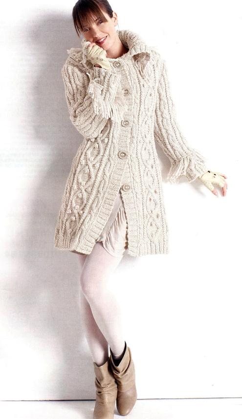 Вязаное пальто фото ::