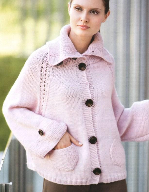 Теплые вязанные свитера женские