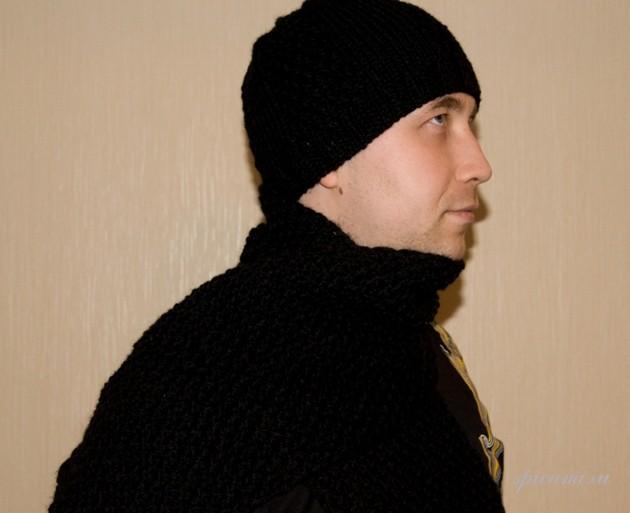 мужской полосатый шарф спицами - Шарф.
