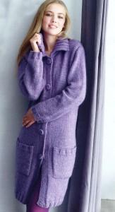 вязаное пальто