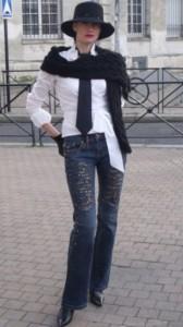 вязаный шарф для мужчины