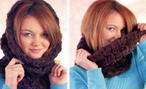 вязаный шарф-труба