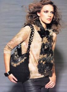 вязаный шарф и сумка