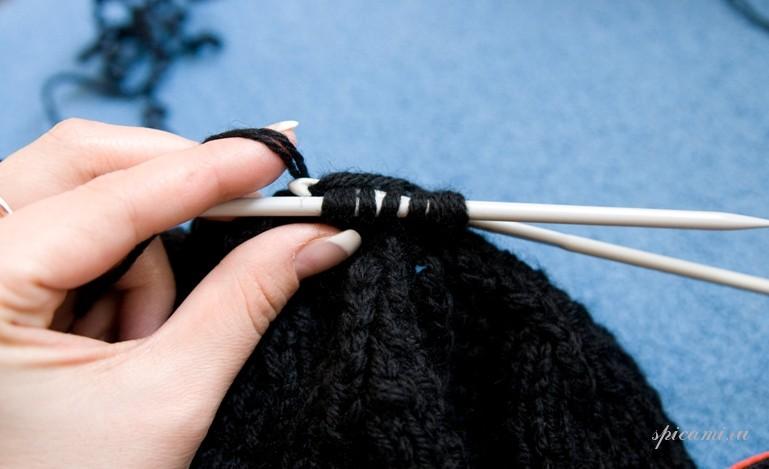 Как правильно закончить вязание шапки спицами 17