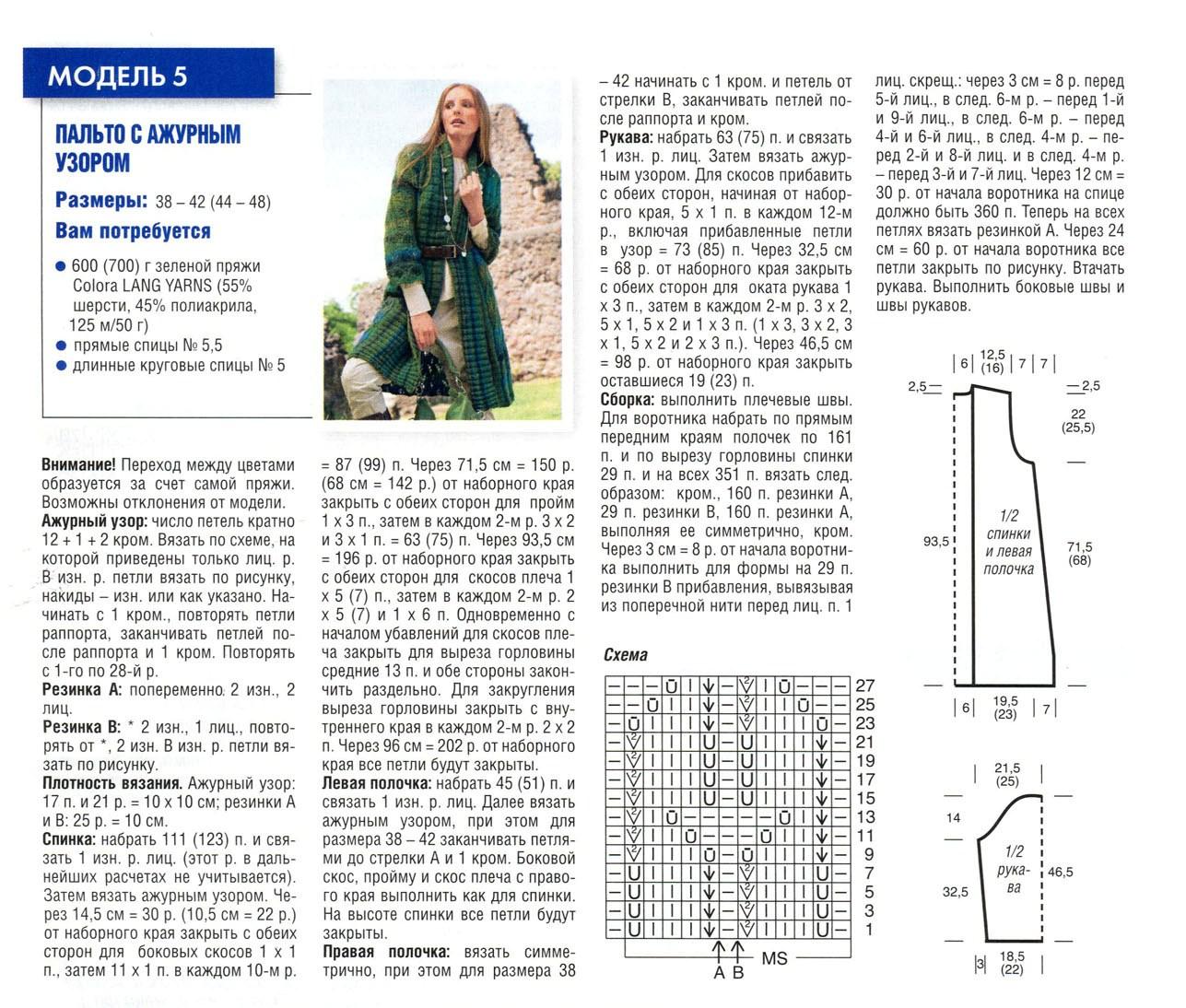 Фото и схемы вязания пальто и кардиганов