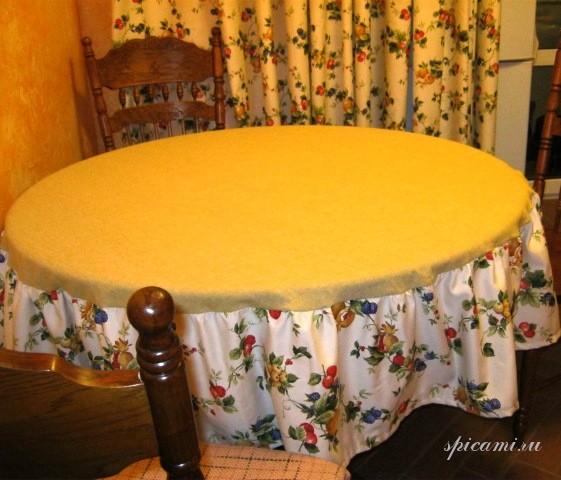 Сшить круглую скатерть на стол своими руками