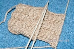 как связать носки пятка