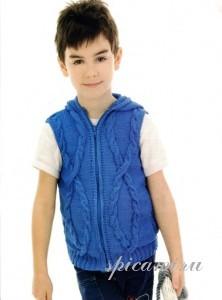 17 моделей детской одежды, выполненной на спицах.  Удобные жакеты.