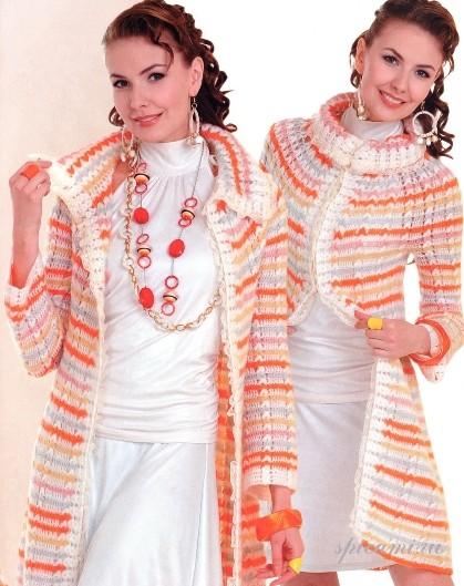 пальто | Вязание спицами и крючком