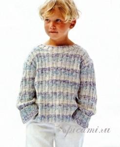 вязаный свитер для мальчика
