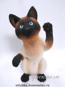 Мастер-класс по валянию: Котик Цезарь.  КЛИКАБЕЛЬНО!