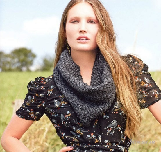 Вязание шарфов спицами на knitka.ru, вязание спицами.  Схема.