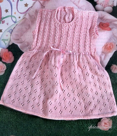 Вяжем платье спицами для девочки видео