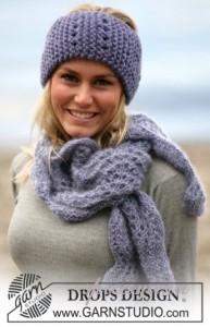 вязаный шарф и повязка