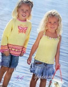 пуловер и топ для девочки