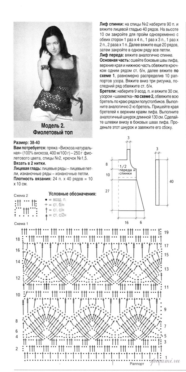 Летняя кофта крючком схемы и описание для начинающих