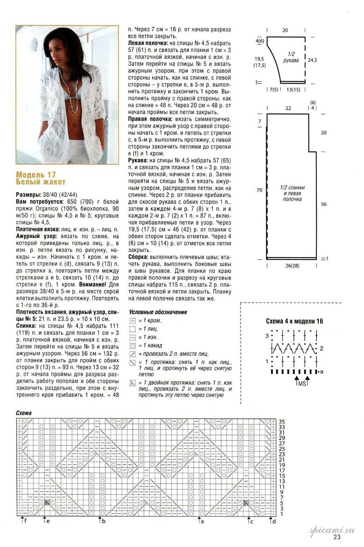Вязание жакетов спицами для женщин