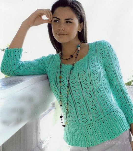 Вязание свитера и туники для женщин