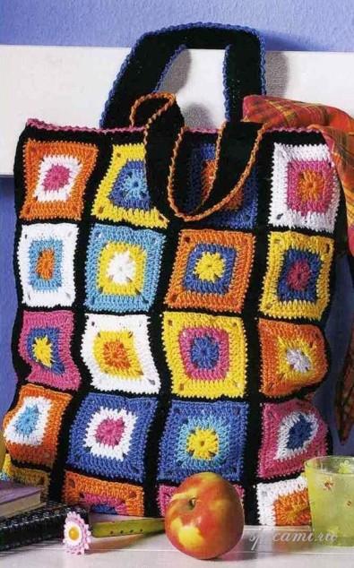 схемы вязания крючком женских сумок.