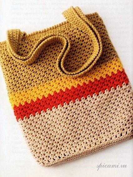 пляжные вязаные сумки фото - Сумки.
