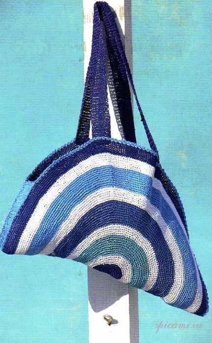 пляжные сумки вязаные крючком схемы.