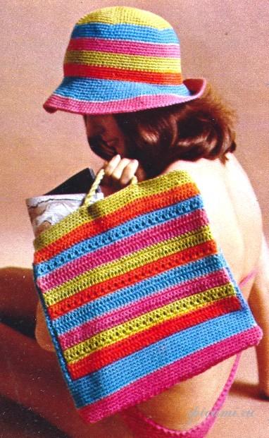 ПЛЯЖНЫЕ СУМКИ... для тех, кто только осваивает вязание.