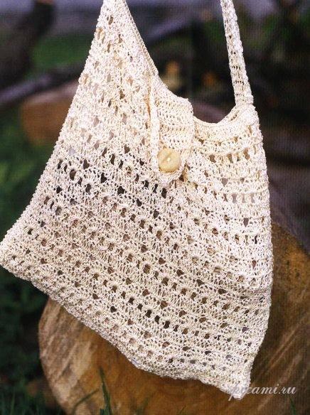 Фото Вязанные крючком пляжные сумки.