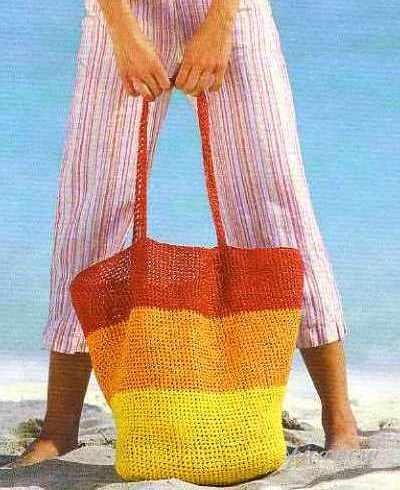 Комментарий: пляжные сумки вязаные крючком - Одежда.