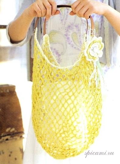вязанные пляжные сумки крючком - Сумки.