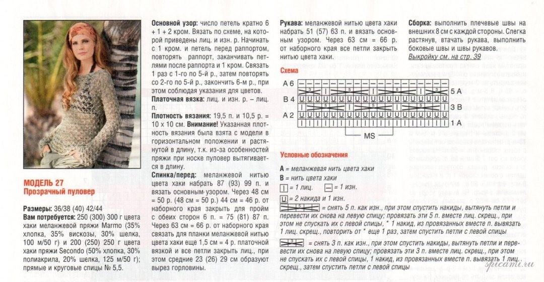 Модели вязания со спицами со схемами и описанием 28